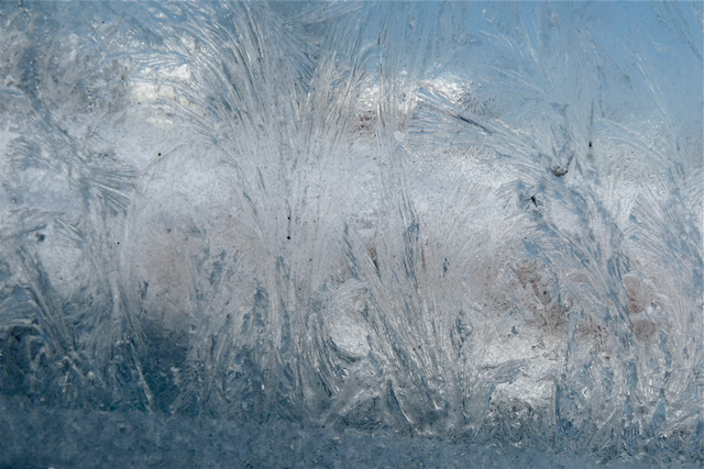 Picture of frosted winter window